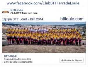 Ir para a página FaceBook do BTT Loulé